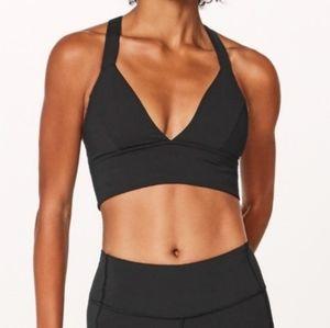 Lululemon Sweat Your Heart Out Sports Bra in Black